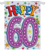 60th birthday party 60th birthday pvc bunting 12ft 60th birthday ...