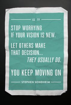 You Keep Moving On...
