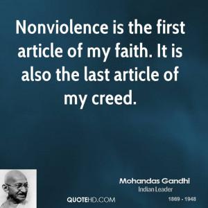Mohandas Gandhi Peace Quotes