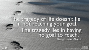 Motivational Quote on Tragedy of Life: The tragedy lies in having no ...