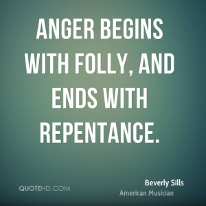 Beverly Sills Anger Quotes
