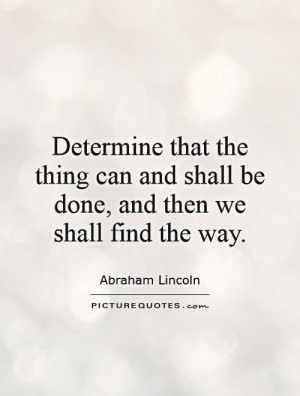 Sayings and Quotes About Determination