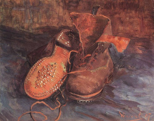 Pair of Shoes by Vincent van Gogh