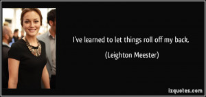More Leighton Meester Quotes