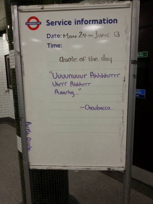 with words so beautiful A London Underground Quote of the Day