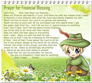 Prayer for Financial Blessing