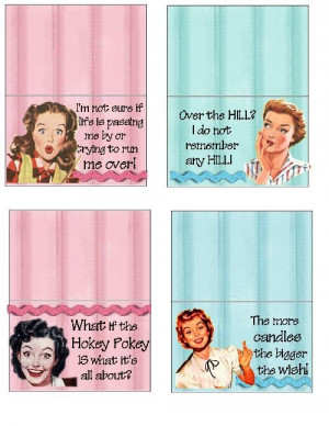 RETRO TOPPERS for birthday party favors using VINTAGE 1950'S magazine ...