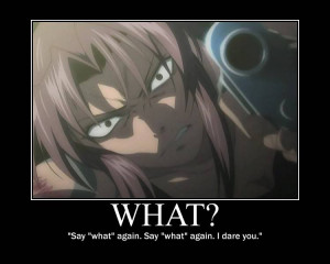 anime black lagoon character revy quote pulp fiction anime high