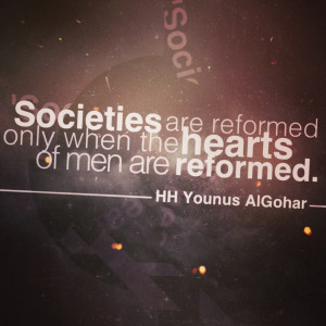 Quote of the Day: Societies are Reformed Only When...