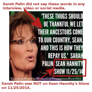 Fake Sarah Palin Quotes, Hannity Interviews