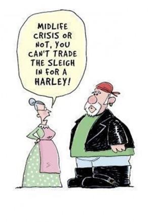Vh funny Christmas Comic Santa Midlife Crisis