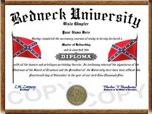 Item # 00188 - Redneck D iploma