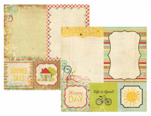 Memory Works - Simple Stories - 100 Days of Summer Collection - 12 x ...