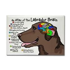 Chocolate Labrador Fridge Magnets