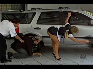 Funny Brazil Hot Car Sales Girl Prank TV Show - NSISFW