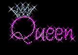 Cute! Queen Crown Custom Rhinestone T Shirt