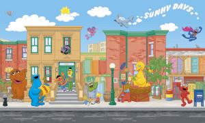 Sesame Street Prepasted XL Sized Wallpaper Mural