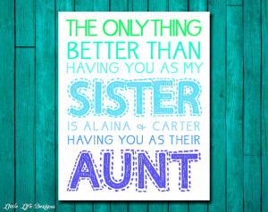 ... or Aunt. Personalized Gift for Sister. Gift for Aunt. Mothers Day