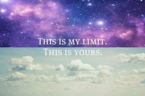 bright, color, encouraging, galaxy, limit, quote, sky, yours
