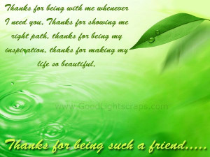 Thanks For Being Such A Friend - Friendship Quote