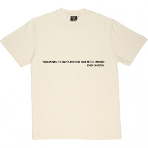 Bobby Charlton Duncan Quote Natural Men's T-Shirt. Sir Bobby Charlton ...