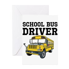 School Bus Driver Greeting Cards for