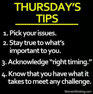 Thursday's Tips