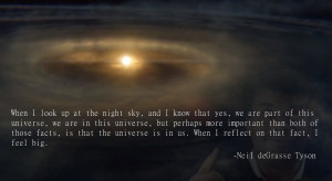 The universe is in us