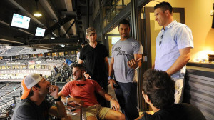 Russell Wilson's (center) inner circle includes his personal assistant ...