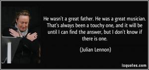 More Julian Lennon Quotes