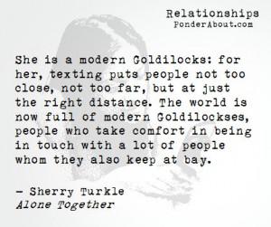 Modern Goldilockses Texting