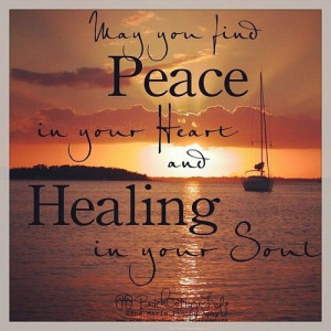 May you find #peace on your heart & #healing in your #soul. # ...