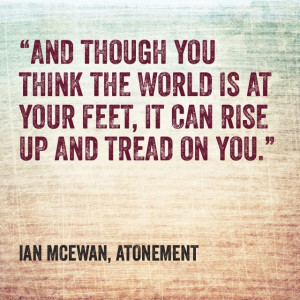 Quotes Ian Mcewan ~ Atonement - Ian McEwan | Quotes | Pinterest