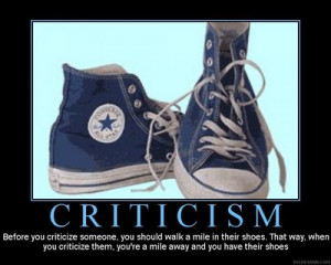 Why criticism is a good thing