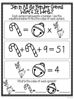 Holiday Math Freebie For You, From Me!