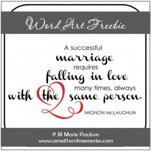 WORD ART: Successful Marriage Quote Word Art Freebie