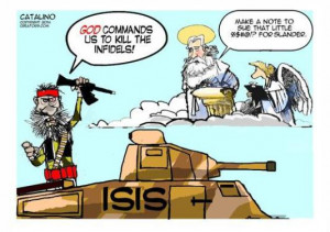 cartoons god and isis august 19 2014 filed under editorial cartoon