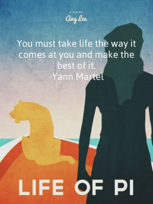 quotes by Yann Martel, Life of Pi.
