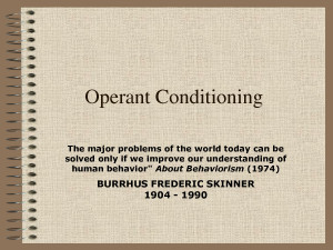 The Basics: Operant Conditioning
