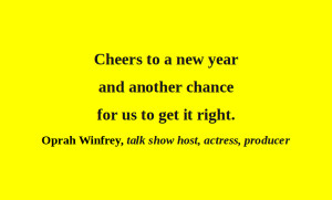 Oprah Winfrey and the New Year - Day 365