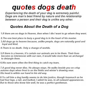 quotes dogs death - About Grieving and Loss - Dog Quotations