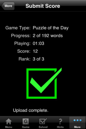 If you love words, you'll love this game. Addictive, so be forewarned.