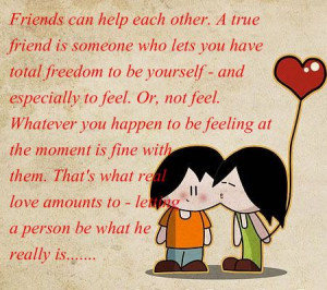 Friends can help each other