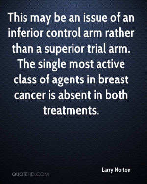 an inferior control arm rather than a superior trial arm. The single ...