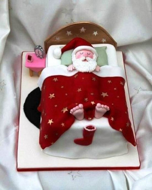 Santa Claus Sleeping Funny Christmas Cakes Pinterest Pictures
