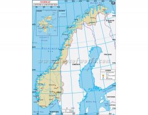 Norway Map with Latitude and Longitude