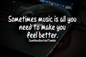better, feeling, headphones, life, mood, music, quote