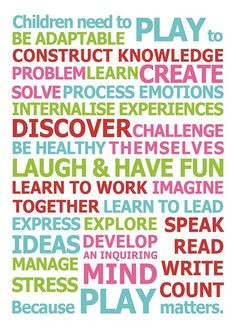 need play play helps children learn and grow research shows that play ...