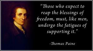 Thomas Paine's quote #1