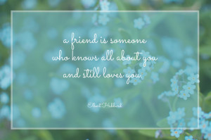 Thanks Rebecca for this lovely friendship quote! Why not send this ...